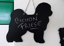 BICHON FRISE DOG SHAPE chalk board blackboard Christmas birthday gift pet puppy