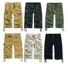 BRANDIT 3/4 LENGTH MENS COMBAT CARGO SHORTS US MILITARY ENGINEER SPEC TROUSERS