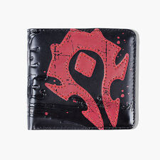 WOW World of Warcraft Horde Crest Logo Leather Bi-fold Wallet for man New