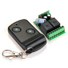 DC12V Remote Control Wireless Learning Code Switch 2 Keys Receiver+Transmitter