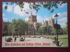 POSTCARD BRISTOL THE CATHEDRAL & COLLEGE GREEN