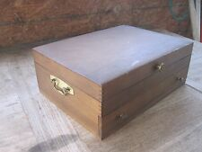 JENEL Tarnish Proof Flatware Chest, 2 Sections(Lift Lid & drawer),Gd.Cond.