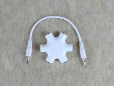 Head Phone 1 to 5 Star Splitter For Headset iPhone iPod 3.5mm Mini Jack Earbud