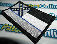Mississippi State Flag Patch with Subdued Blue Line Theme Tactical Iron- On