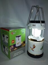 RECHARGEABLE SOLAR / AC CHARGED 6 LED CAMPING TENT LIGHT LANTERN LAMP W USB PORT