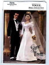 Vogue 7676 Doll Collection Gene and Trent Ashton Drake Bride & Groom Pattern New