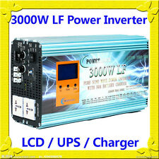 12000W/3000W LF Pure Sine Wave 12VDC/230VAC 50Hz Power Inverter LCD/UPS/Charger