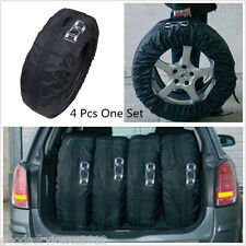 "Portable One Set Black Car SUV Seasonal 13""-19"" Tire Storage Bags Protector Tool"