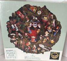 New 500 Piece Hallmark Keepsake Ornament Collection Puzzle Wreath Shape Vintage