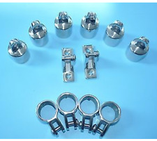 """Stainless Steel Hardware Fittings Set of 3/4"""" 3-Bow Bimini Top ~ 12 pieces"""