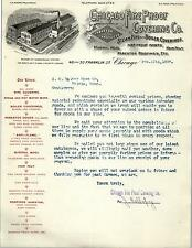 1897 Chicago Fire Proof Covering Company Letterhead from Chicago, IL