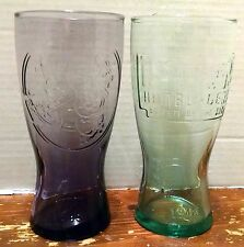 MCDONALDS 1948 1955 DRINKING GLASSES Speedee Purple Green Hamburgers Advertising