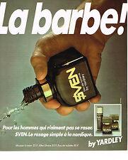 PUBLICITE ADVERTISING 054  1978  YARDLEY  eau de toilette pour homme