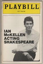 """""""Ian McKellen: Acting Shakespeare"""" Playbill 1984  8 PHOTOS"""