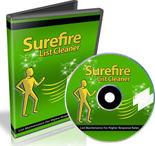 How to Maintain and Clean Your Email Lists For Higher Response Rates Videos 1 CD