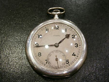 ANTIQUE OLD RARE 84 POCKET WATCH SILVER 0.875 TWO COVERS - ETERNA - WORKING!
