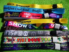 150 Personalised Fabric Wristbands, Printed with Your Logo,Image or Text,WEDFEST