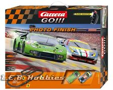 Carrera GO!!! Photo Finish 1/43 analog slot car race set 62397
