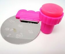 MeBella Pink Stamp Scraper Nail art pro' kit. 3 in 1 Manicure craft art KIT