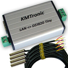 KMtronic LAN DS18B20 WEB Digital Température Monitor 4 Sensors (1 meter Cable)