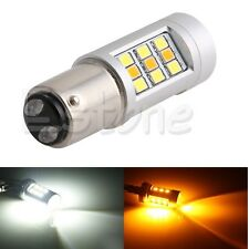1PC Dual Color 1157 Switchback White/Amber 33-LED 3535 Turn Signal Light Bulb