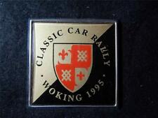 CAR BADGE - CLASSIC CAR RALLY - WOKING - 1995.