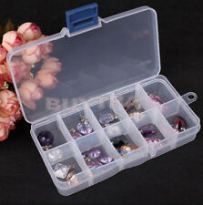 10 lots Adjustable Jewelry Storage Box Case Container Craft Organizer Beads