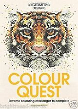 Color Quest By Number Huge Big Puzzle Adult Colouring Book Art Animals Wildlife