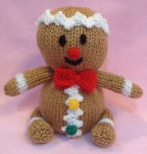 KNITTING PATTERN - Christmas Gingerbread Man orange cover or 15 cms toy