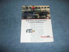 1990 Ford Motorcraft Parts Vintage Ad with 1958 Thunderbird Convertible