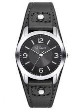 s.Oliver Damenuhr SO-2945-LQ mit schwarzen Lederarmband modische Uhr women