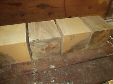 FOUR MAPLE BOWL BLANKS LATHE TURNING BLOCK CUBE 5 X 5 X 5""