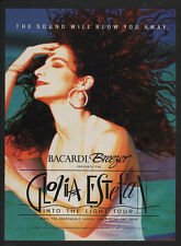 1991 GLORIA ESTEFAN Into the Light Tour - BACARDI BREEZER - Miami - VINTAGE AD