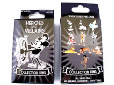 Disney * HEROES vs VILLAINS * New & Sealed 2-Pin Mystery Box