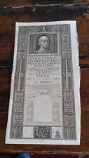 CERTIFICATO AZIONARIO DEBITO PUBBLICO REGNO D ITALIA 5% 1928