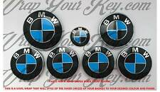 BLACK & DARK BLUE M SPORT BMW Badge Emblem Overlay HOOD TRUNK RIMS FITS ALL BMW