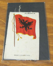 1912 Tobacco Silk//Flags//S-33////ALBANIA