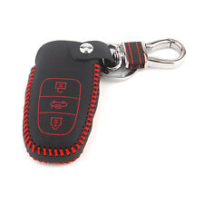 Leather Key Cover Holder for AUDI A3 A4 A5 Q5 S4 Smart Remote Key Chain Case 3BT