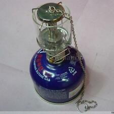 Camping Lantern Gas Light Tent Lamp Torch Hanging Glass Butane 80LUX NM O0L8