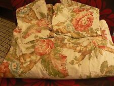 Pottery Barn Duvet Shams Floral Roses Organic Cotton Shabby Full/Queen Israel