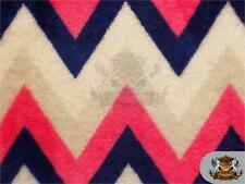 """Minky Double Sided 1 Inch Chevron Fabric PINK / 54"""" Wide/ Sold by the yard"""