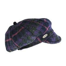 EUREKA STOCKADE HARRIS TWEED Jockey Cap XL Purple