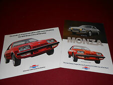 1975 CHEVROLET MONZA 2+2 BROCHURE and TOWNE COUPE / 2+2  CATALOG, 2 for 1 Deal!