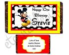 Personalised Kids Chocolate Bar Wrapper Favours Sweets Gifts (Mickey Mouse 1)