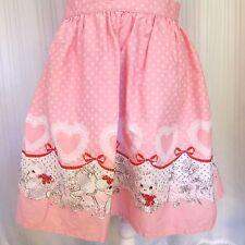 Bodyline Pink Polka Dot Lolita Skirt w/ Hearts & Puppy Dogs