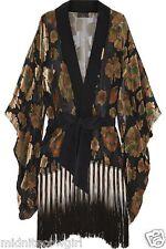 Agent Provocateur Soiree Kimono silk gown S M boxed Mistie velvet devore rp£1495