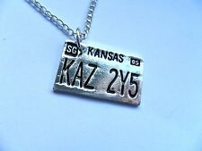 Supernatural Car Number Plate KAZ2Y5 Pendant Dean Winchester Necklace