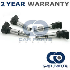 4X FOR AUDI A2 8Z 1.6 FSI PETROL (2002-2005) IGNITION COIL PACKS PACK PENCIL SET