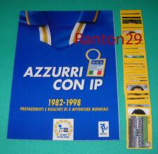 AZZURRI CON IP - ALBUM VUOTO + SET COMPLETO 100 FIGURINE - MERLIN COLLECTIONS