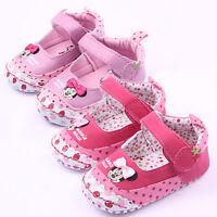 Babyschuhe Mädchen Minnie Krabbelschuhe Hausschuhe Sneaker Ballettschuhe 16-20